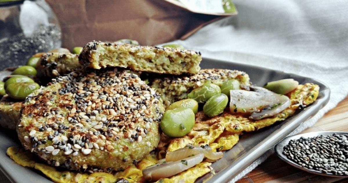 Crocchette di Edamame impanate con Semi di Chia by #mangiapositivo