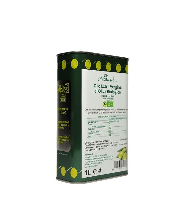 Olio Extra Vergine di oliva Biologico - Lattina da 1 Litro